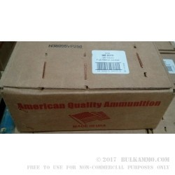 250 Rounds of .380 ACP Ammo by American Quality Ammunition - 95gr FMJ