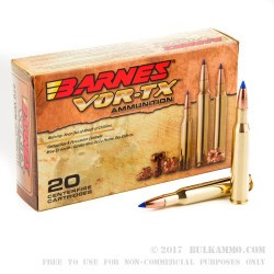 20 Rounds of .270 Win Ammo by Barnes - 130gr TTSX