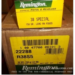 500 Rounds of .38 Spl Ammo by Remington Express - 158gr LRN