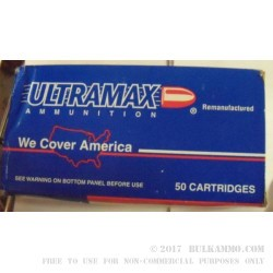 50 Rounds of .38 Spl Ammo by Ultramax - 158gr LSWC