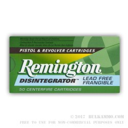500  Rounds of .38 Spl Ammo by Remington - 100gr PF Disintegrator