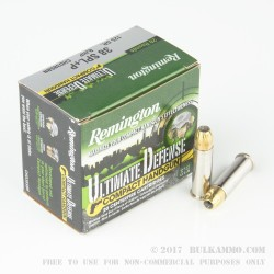20 Rounds of .38 Spl + P Ammo by Remington Ultimate Defense Compact - 125gr BJHP