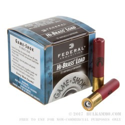 25 Rounds of .410 Ammo by Federal -  #6 shot