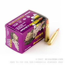 20 Rounds of .223 Ammo by Golden Bear - 62gr SP