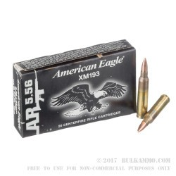 20 Rounds of 5.56x45 Ammo by Federal - 55gr FMJBT