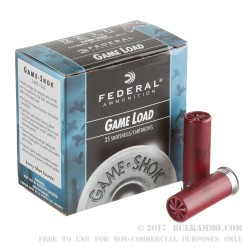 "25 Rounds of 12ga Ammo by Federal Game-Shok - 2 3/4"" 1 ounce #7 1/2 shot"