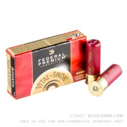 "5 Rounds of 2-3/4"" 12ga 00 Buck Ammo by Federal vital-Shok -  00 Buck"