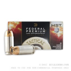 1000 Rounds of .40 S&W Ammo by Federal - 155gr JHP HST LE