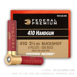 20 Rounds of .410 Ammo by Federal -  000 Buck