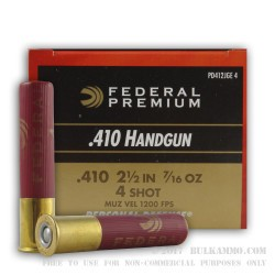 20 Rounds of .410 Ammo by Federal -  #4 shot