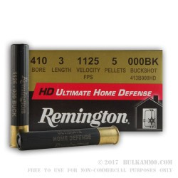 "150 Rounds of .410 3"" Ammo by Remington -  000 Buck"