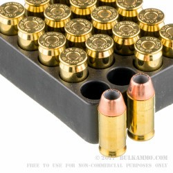 500 Rounds of .45 ACP +P Ammo by Corbon - 185gr JHP
