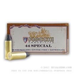 50 Rounds of .44 S&W Spl Ammo by Fiocchi - 210gr LRNFP