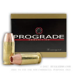 20 Rounds of .45 ACP Ammo by ProGrade Ammunition - 185gr JHP