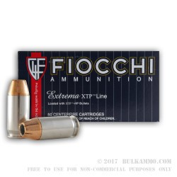 50 Rounds of .45 ACP Ammo by Fiocchi - 230gr JHP XTP