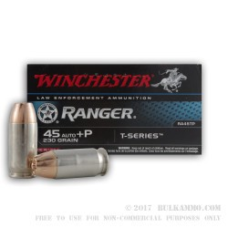 50 Rounds of .45 ACP Ammo by Winchester - 230gr JHP