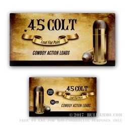 50 Rounds of .45 Long-Colt Ammo by Aguila - 200gr LFN