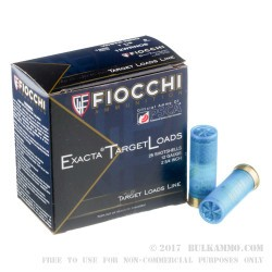 250 Rounds of 12ga White Rhino Ammo by Fiocchi - 1 1/8 ounce #8 shot