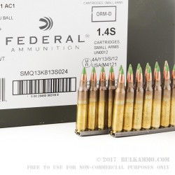420 Rounds of XM855 5.56x45 Ammo by Federal - 62gr FMJ on Stripper Clips in Ammo Cans