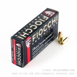 1000 Rounds of .40 S&W Ammo by Fiocchi - 180gr CMJTC