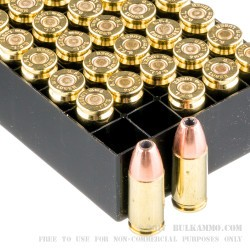 1000 Rounds of 9mm Ammo by Fiocchi - 115gr JHP