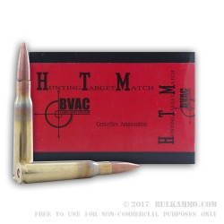 10 Rounds of .50 BMG New Ammo by BVAC - 647gr FMJ