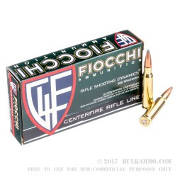 200 Rounds of .308 Win Ammo by Fiocchi - 165gr InterLock SPBT