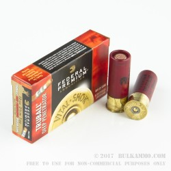 5 Rounds of 12ga Ammo by Federal - 1 ounce Deep Penetrator Rifled Slug