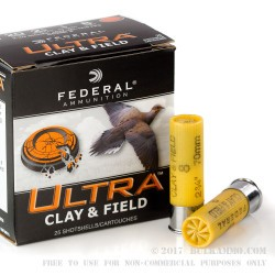 250 Rounds of 20ga Ammo by Federal Ultra - 7/8 ounce #8 shot