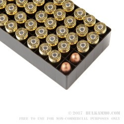 50 Rounds of 9mm Ammo by Fiocchi - 158gr FMJ