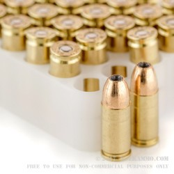 50 Rounds of 9mm Ammo by Federal - 115gr JHP HI-SHOK