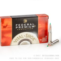 20 Rounds of .308 Win Ammo by Federal - 150gr Nosler Ballistic Tip