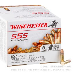 5550 Rounds of .22 LR Ammo by Winchester - 36gr CPHP