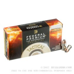 50 Rounds of .45 ACP +P Ammo by Federal LE Tactical - 230gr Bonded HP