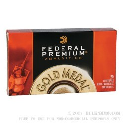 20 Rounds of .300 Win Mag Ammo by Federal - 190gr Sierra Matchking HPBT