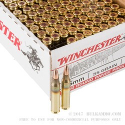 180 Rounds of 5.56x45 Ammo by Winchester USA - 55gr FMJ