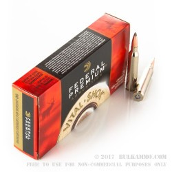20 Rounds of 7mm Rem Mag Ammo by Federal Premium - 160gr Nosler Partition