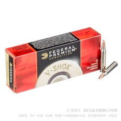 200 Rounds of .223 Ammo by Federal V-Shok - 43 Grain Speer TNT Green HP