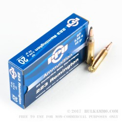 20 Rounds of .223 Ammo by Prvi Partizan - 55gr SP