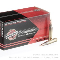 50 Rounds of 5.56x45 Ammo by Black Hills Ammunition - 69gr OTM
