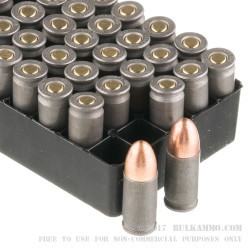 50 Rounds of 9mm Ammo by Wolf WPA Military Classic - 115gr FMJ