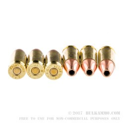 50 Rounds of 9mm Ammo by Fiocchi - 147gr JHP