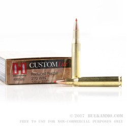 20 Rounds of .270 Win Ammo by Hornady - 120gr SST