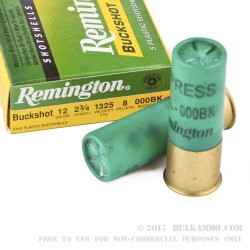 250 Rounds of 12ga Ammo by Remington Express -  000 Buck