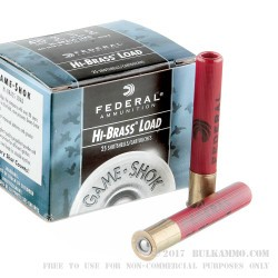 "25 Rounds of .410 Ammo by Federal Game-Shok - 3"" 11/16 ounce #5 shot"