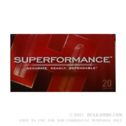 20 Rounds of .308 Win Ammo by Hornady Superformance - 150gr GMX