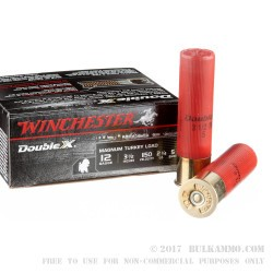 10 Rounds of 12ga Ammo by Winchester Double X Magnum Turkey Load - 2-1/4 oz. #5 shot