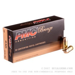 1000 Rounds of .45 ACP Ammo by PMC - 230gr FMJ