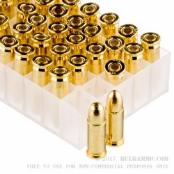 50 Rounds of .25 ACP Ammo by Fiocchi - 50gr FMJ