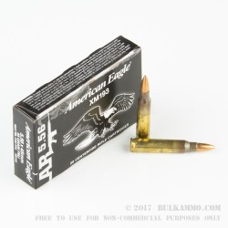 500  Rounds of 5.56x45 Ammo by Federal - 55gr FMJBT